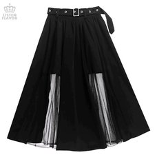 LISTEN FLAVOR Tulle Layered Long Skirt