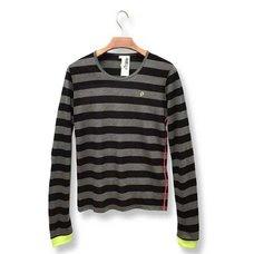 Hatsune Miku Timeline Black & Gray Striped Long Sleeve Cutsew