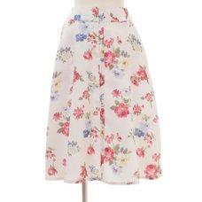 LIZ LISA Vintage Flower Pattern Skirt
