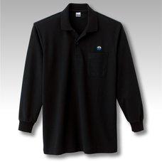 NEOGEO Label H Grade Long-Sleeve Black Polo