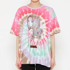 Junji Ito R4G Uzumaki Pink Tie-Dye T-Shirt