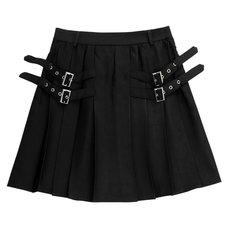 LISTEN FLAVOR Side Belt Pleated Skirt