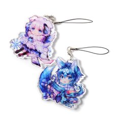 Cheerful Kemomimi Acrylic Straps