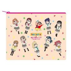 Crayon Shin-chan x Love Live! Sunshine!! Mini Pouch
