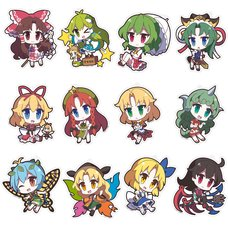 Touhou Project Yurutto Touhou Acrylic Keychain Charm Collection Vol. 3