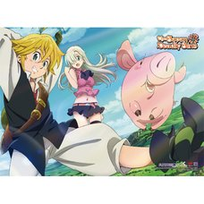 The Seven Deadly Sins Elizabeth Meliodas & Hawk 1 Premium Wall Scroll