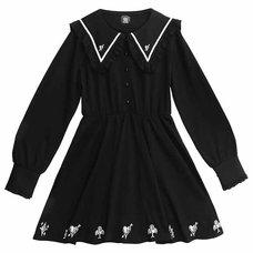 LISTEN FLAVOR Queen of Hearts Frilly Sailor Dress