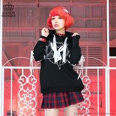 LISTEN FLAVOR Evil Cutie Pentagram Lace-up Hoodie