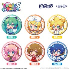 Hatsune Miku Logic Paint S Pin Badge Complete Box Set
