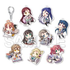 Love Live! Sunshine!! Chibi-Chara Trading Acrylic Keychain Collection Complete Box Set
