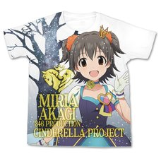 The Idolm@ster Cinderella Girls My First Star!! Miria Akagi Graphic T-Shirt