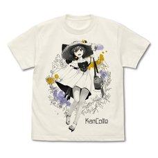 Kantai Collection -KanColle- Yukikaze Summer's Lady Mode Vanilla White T-Shirt