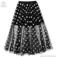 LISTEN FLAVOR Star Tulle Layered Skirt