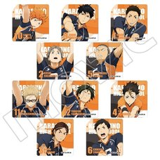 Haikyu!! Karasuno High vs Shiratorizawa Academy Metal Charm Collection Box Set