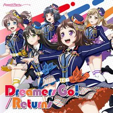 Dreamers Go!/Returns | BanG Dream! Girls Band Party! Poppin'Party CD (Limited Edition w/ Blu-ray)