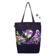 Splatoon Tote Bag w/ Tin Badge