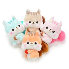 Fusappo Nuts Favorite Food Squirrel Plush Collection (Standard)