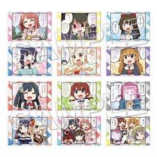 Nijiyon -Love Live! Nijigasaki High School Idol Club Yon Koma- Square Trading Pin Badges Complete Box Set