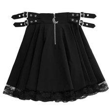 LISTEN FLAVOR Melty Moon Side Belt Skirt