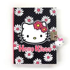 Hello Kitty Daisy Locking Diary