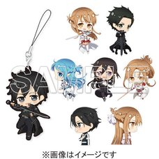 Sword Art Online 10th Anniversary Key Visual Trading Rubber Strap Complete Box Set