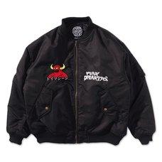 [PDS x Toy Machine] MA-1 Black Jacket