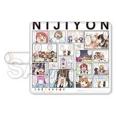 Nijiyon -Love Live! Nijigasaki High School Idol Club Yon Koma- General Election Selected Panels Notebook-Style Smartphone Case