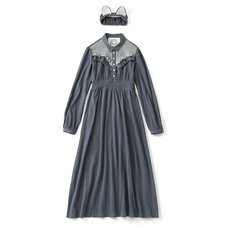 SUKIYAKI Russian Blue Nighty Dress Set