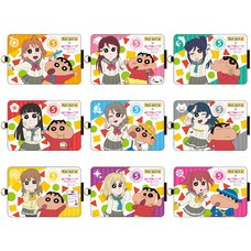 Crayon Shin-chan x Love Live! Sunshine!! IC Card Case Collection