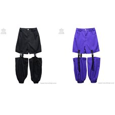 LISTEN FLAVOR Plastic Buckle Hollowed Out Detachable Pants