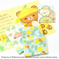 Rilakkuma A Basketful of Lemons Medium Picnic Blanket