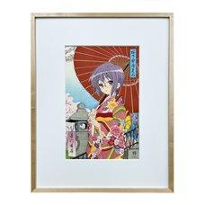 The Melancholy of Haruhi Suzumiya Ouka Kasamochi Bijin Yuki Nagato Ukiyo-e Woodblock Print