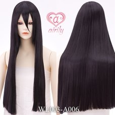 Straight Black 70 cm Wig