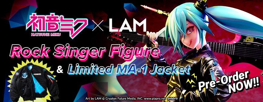 Hatsune Miku x LAM Rock Singer Figure & Jacket