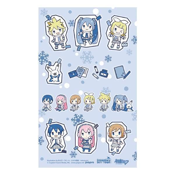 Authentic Japanese Hatsune Miku Winter Miku Sticker Sheet