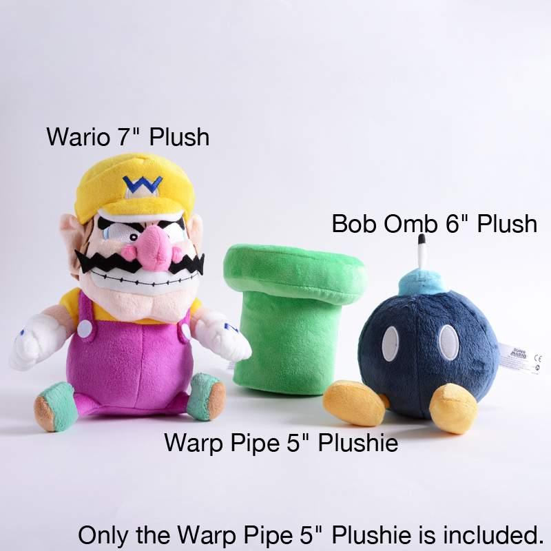 5 inch Plush 1263 Plushie Official San-Ei New Warp Pipe SUPER MARIO BROS