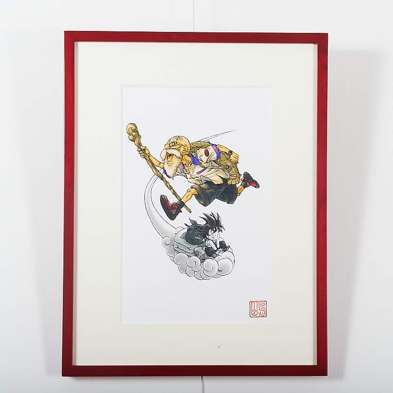 Akira Toriyama Reproduction Art Print Dragon Ball The Complete Edition 2 Otakumode Com