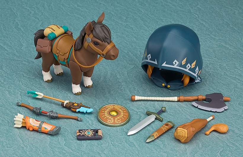The Legend of Zelda Nendoroid Link with Pony Breath of the Wild Doll
