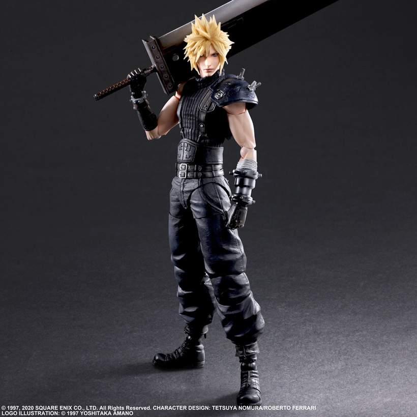 Play Arts Kai Final Fantasy VII Remake Cloud Strife PVC Action Figure Toy No Box