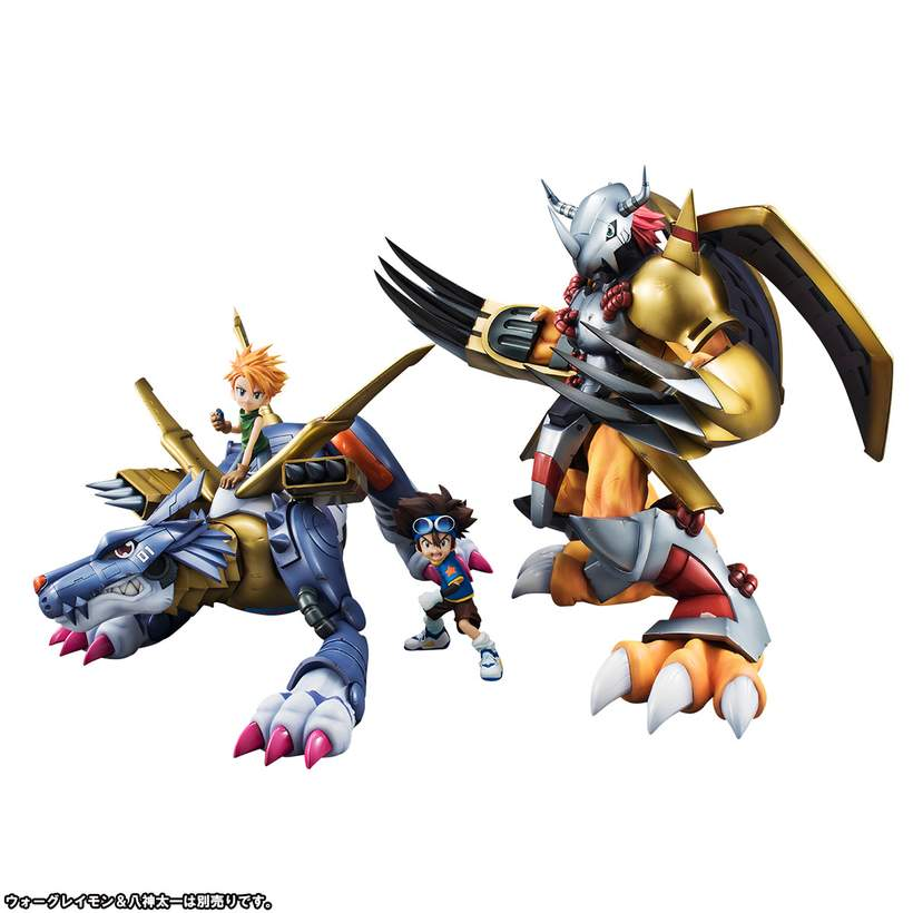 Digimon Adventure metal Garurumon /& Ishida Yamato Figure JAPAN Precious G.E.M