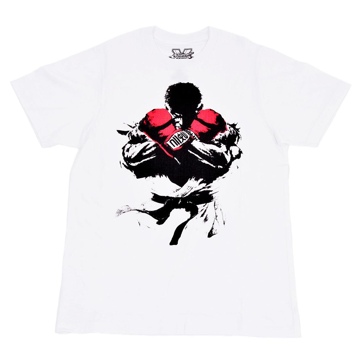 Street Fighter Ryu Mens White T Shirt Bioworld Otakumode Com