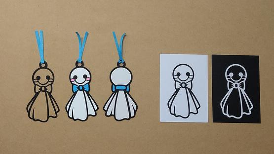"""Paper-cut Artwork Bookmark """"Teru Teru Bouzu"""""""